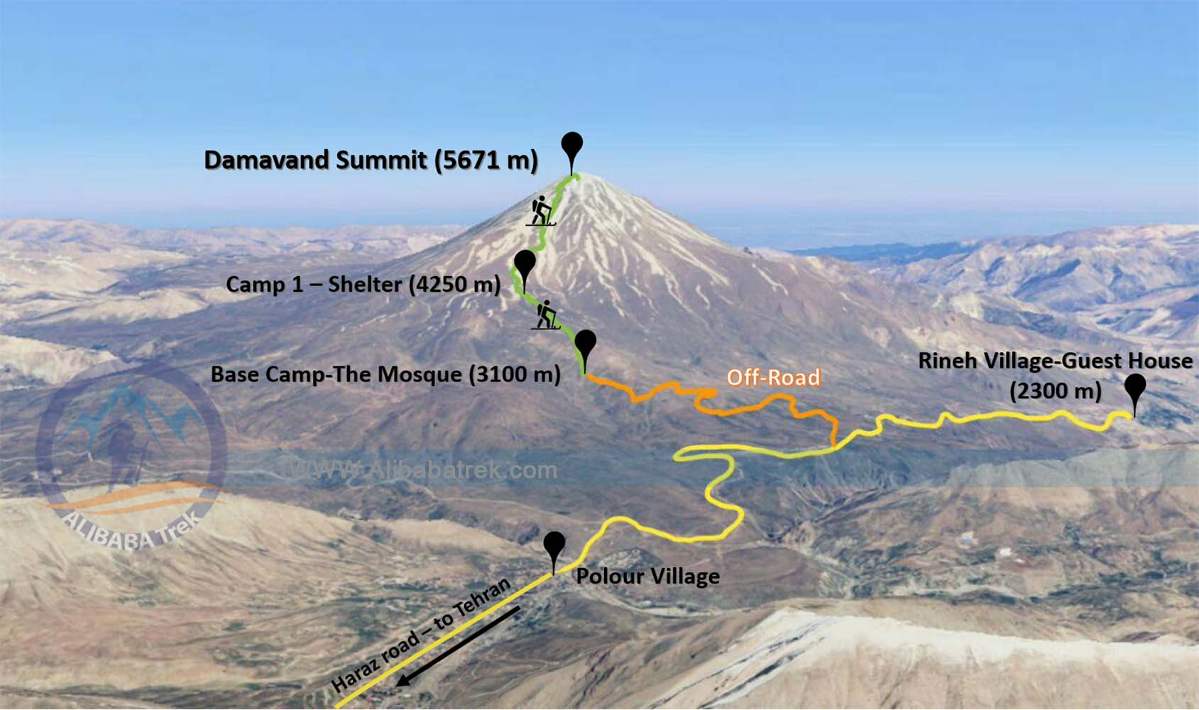 Alibabatrek Damavand tour climb damavand mount damavand hike damavnad trek