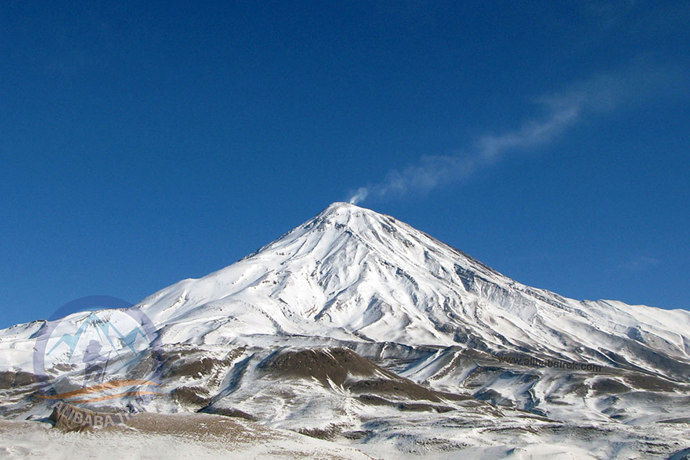 Damavand (5671 m), The highest peak in the Middle East, Iran
