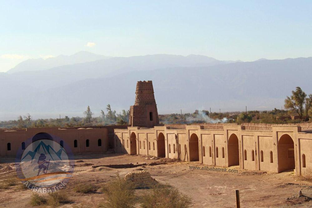 The castle or caravanserai that we stay in Shahdad, Kerman