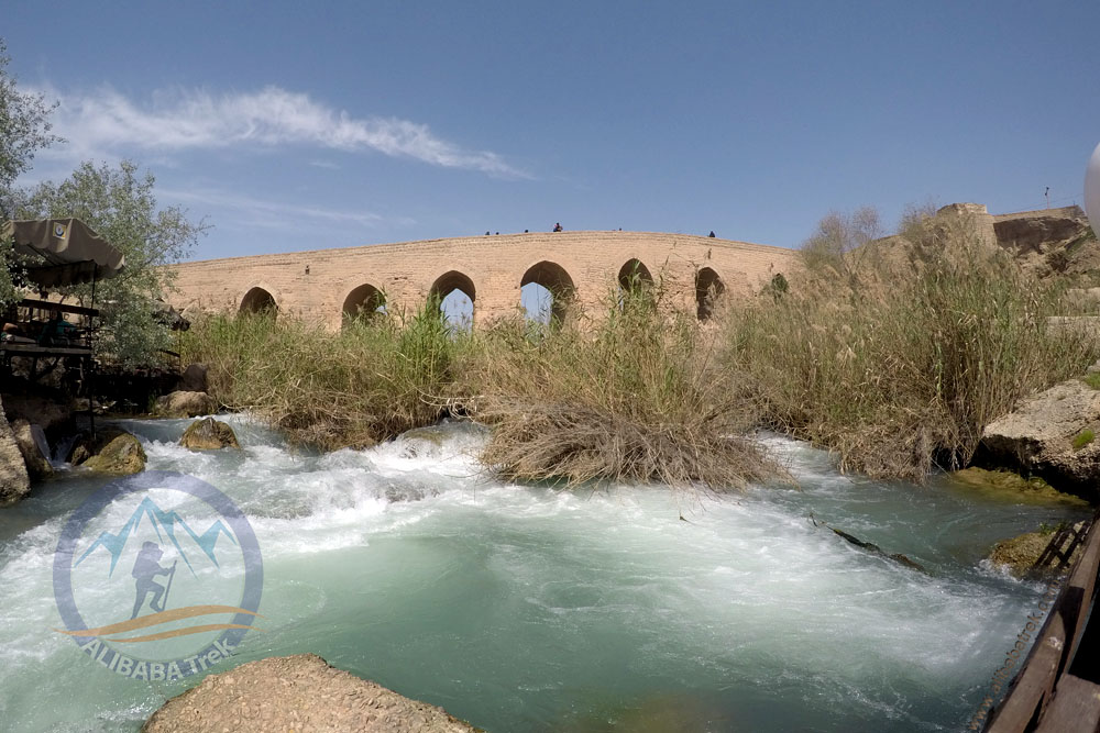 A view from the restaurant beside the River in Shushtar