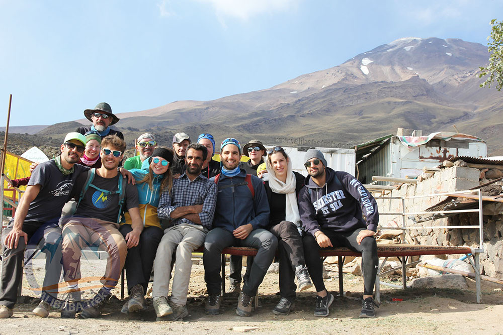 During Damavand tour, southern base camp, at 3100 m.