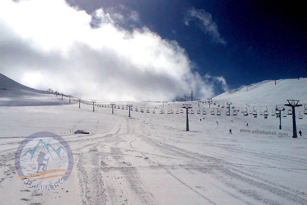 Tochal Ski Resort at 3700m!