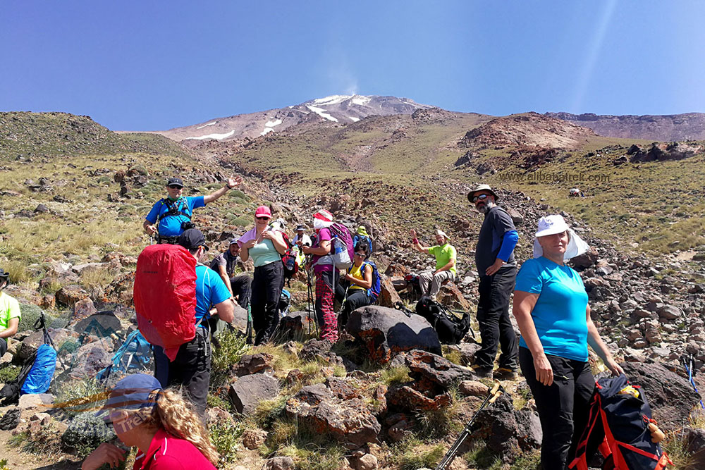 During Damavand Tour, above the base camp on the way to the shelter at 3700 m.