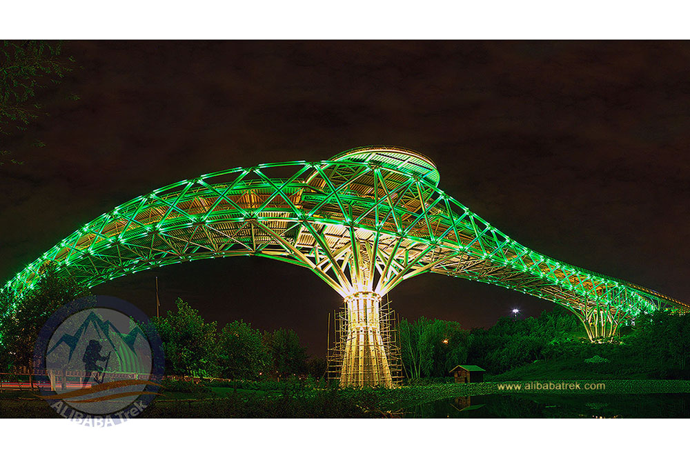 Tabiat (Nature) Bridge, the largest pedestrian overpass in Tehran, Iran