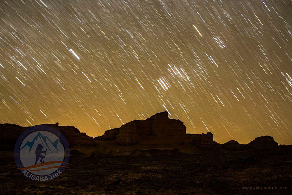 The outstanding sky of Kalout Desert in the night, Shahdad Kalouts, Kerman