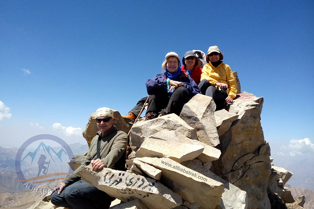 On the Summit of Mount Alamkuh, 4850 m