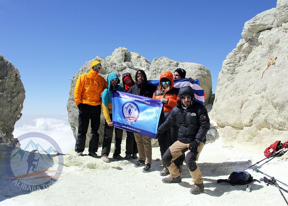 damavand mount ascend alibaba trek tour