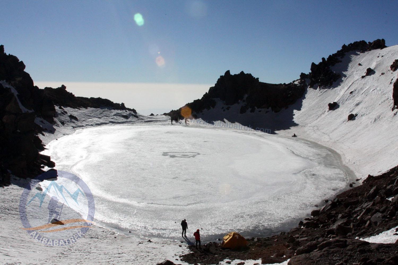 Sabalan Summit 4811m in winter, Third highest peak in the Iran