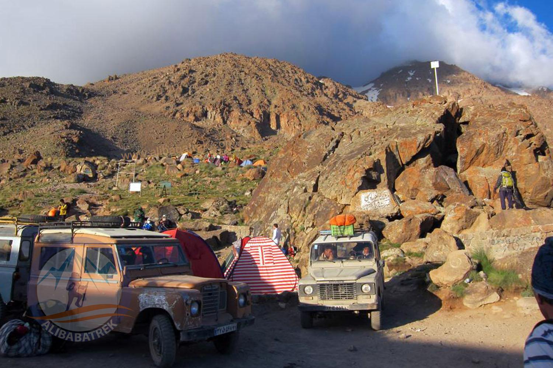 Sabalan Northeast basecamp (hut) 3650m