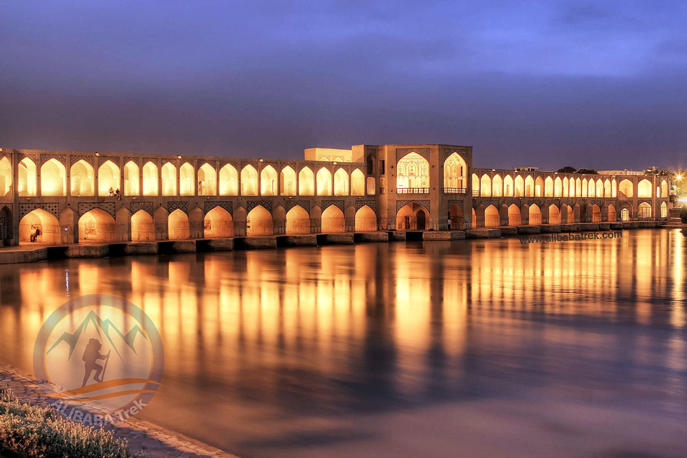 Alibabatrek Iran Travel visit iran tour Travel to Isfahan sightseeing Trip to Isfahan city tour tourism isfahan tourist attraction Khaju Bridge