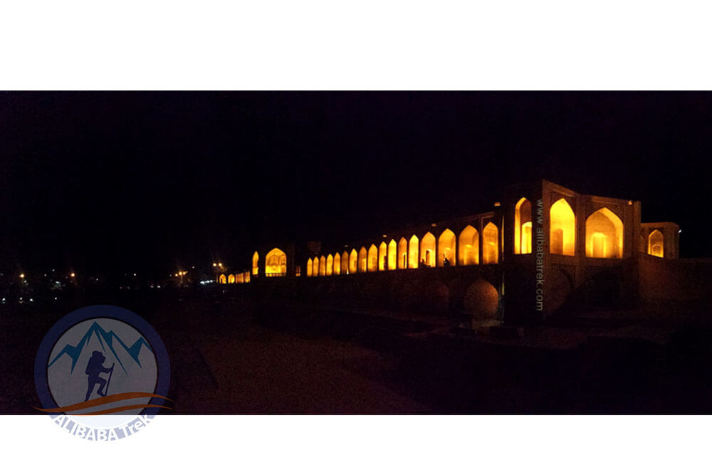 Alibabatrek Iran Travel visit iran tour Travel to Isfahan sightseeing Trip to Isfahan city tour tourism isfahan tourist attractionKhaju Bridge