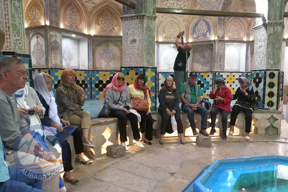 Alibabatrek Iran Travel visit iran tour Travel to kashan sightseeing Trip to kashan ity tour tourism kashan tourist attraction Sultan Amir Ahmad Bathhouse,