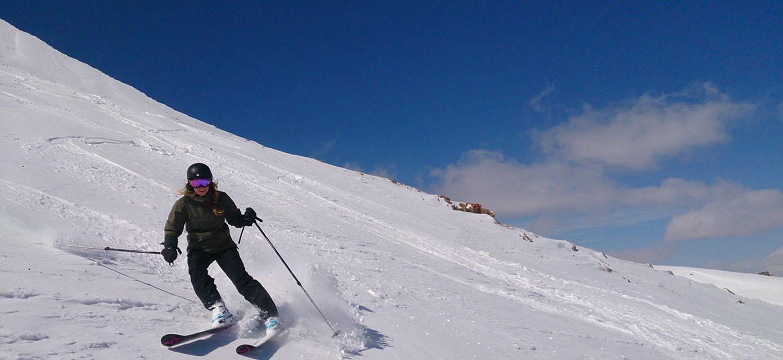 Iran ski tours Skiing in Iran off-piste touring backcountry mountaineering Damavand ski tour deal Iran wild ski Iran ski package holidays