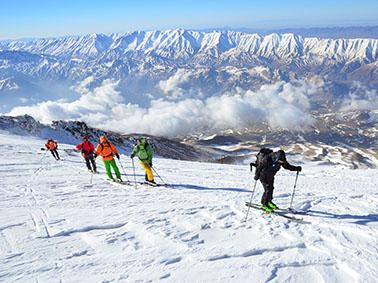 alibabatrek visit iran travel iran tour damavand ski