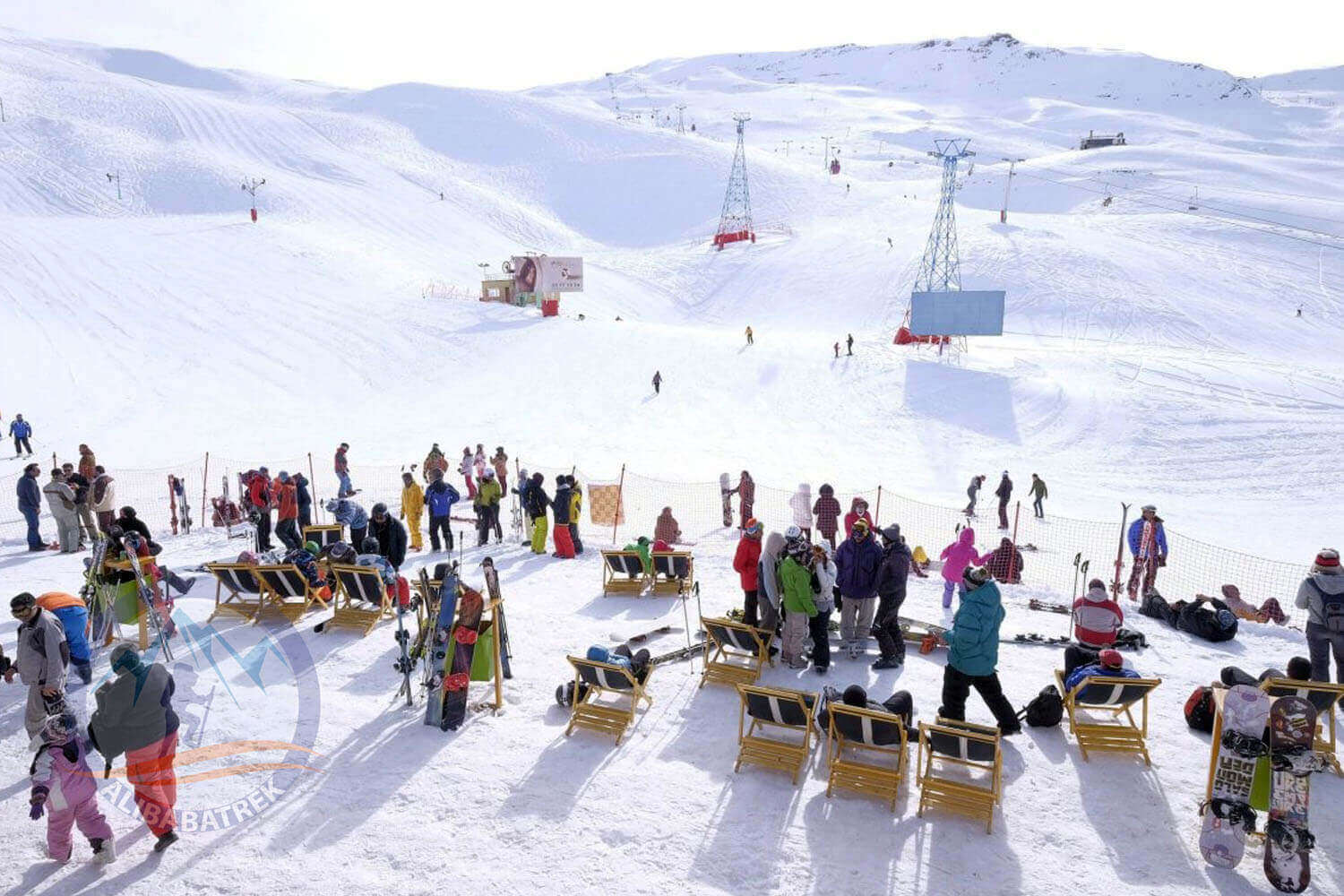 Alibabatrek Iran tours Iran tour packages Skiing in iran ski resort Iran Cultural tour Dizin Ski Resort2