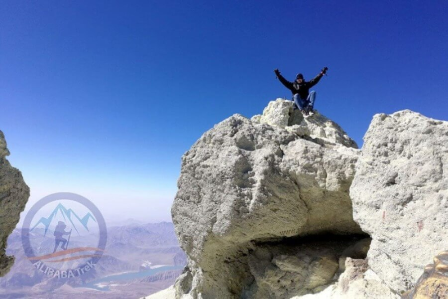 Alibabatrek climb damavand tour damavand trek tourist reach the summit of damavand