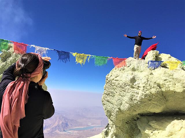 Damavand summit alibabatrek Volcanic Seven Summits Conquest Damavand Volcano Iran blog -Iran-Tour