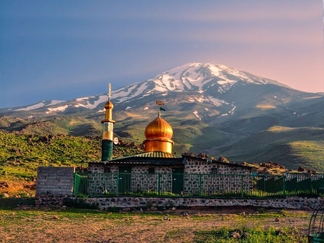 Goosfandsara the mosque camp alibabatrek Damavand; The Symbol of Resistance iran blog -Iran-Tour