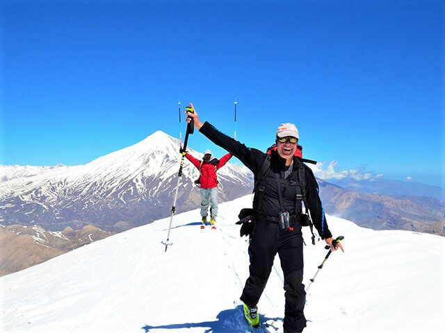 Mount Damavand Ski touring alibabatrek why ski in Iran - Iran ski tour - Iran ski resorts - Iran blog