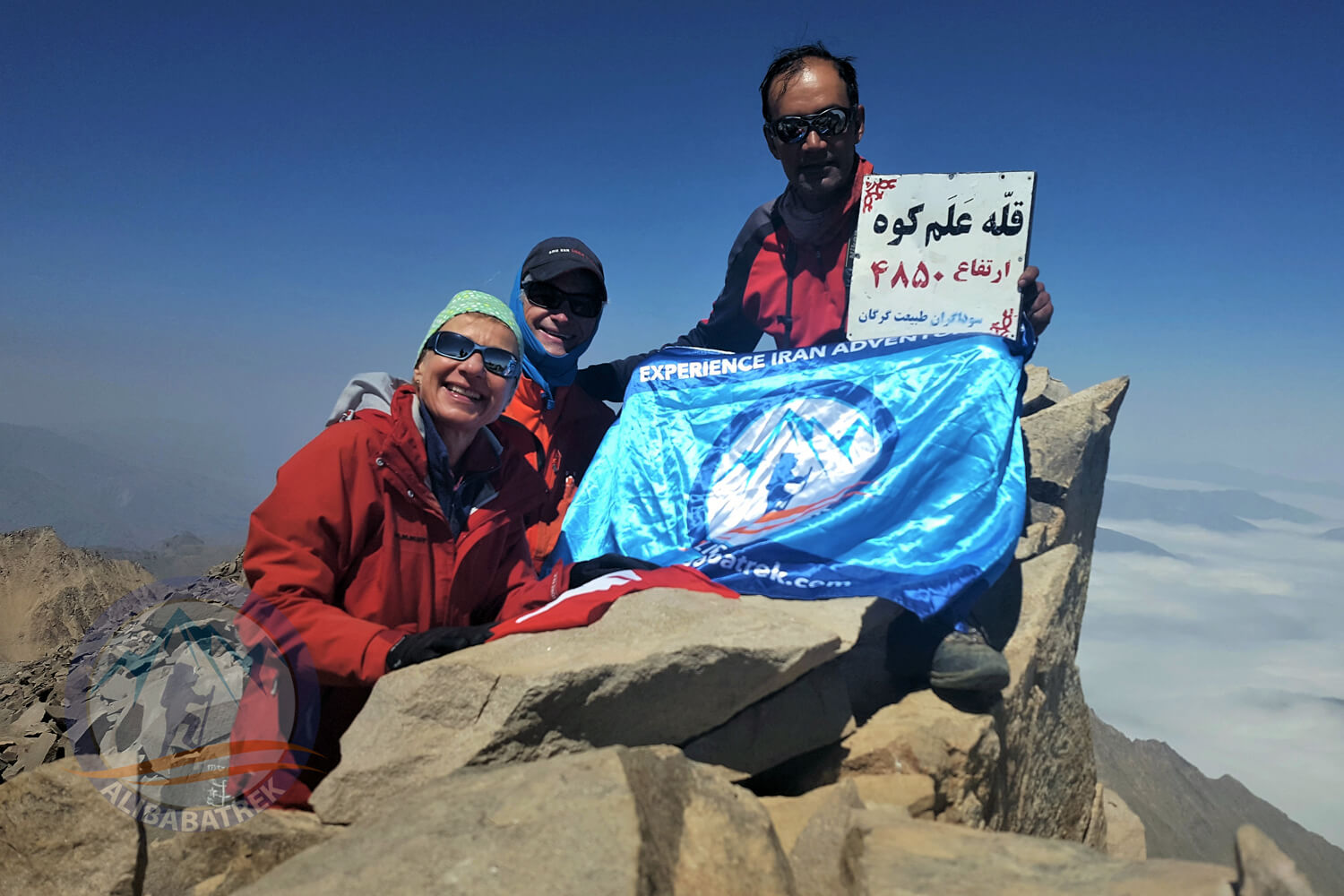 Alibabatrek damavand tour alamkuh trekking tour iran mountains tour alamkuh summit