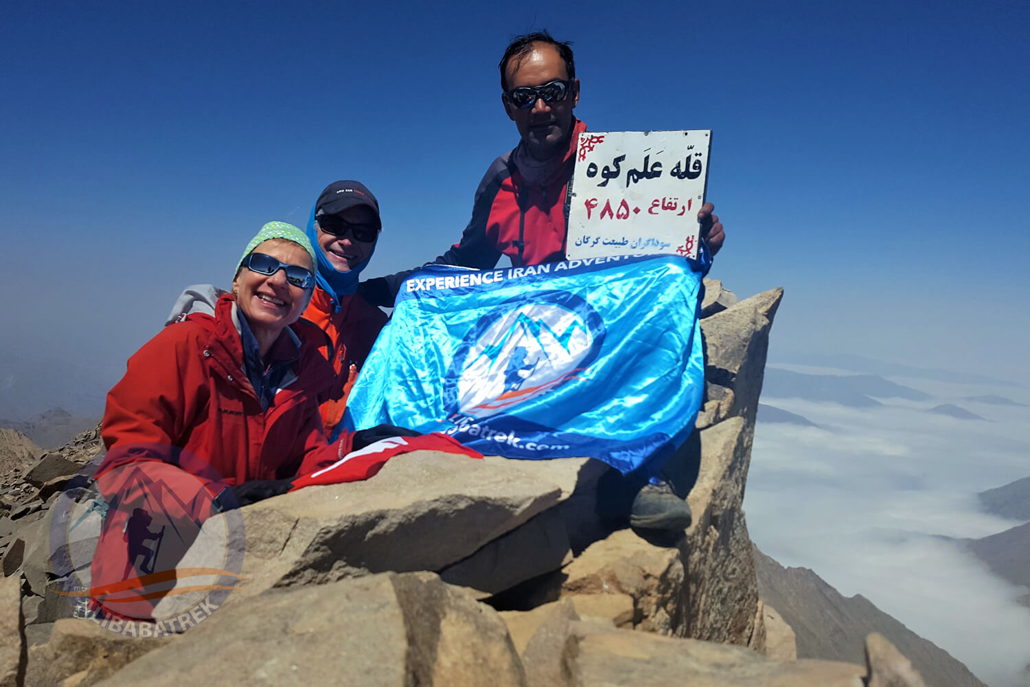 Alibabatrek top 3 summit of iran trekking tour mount alamkuh