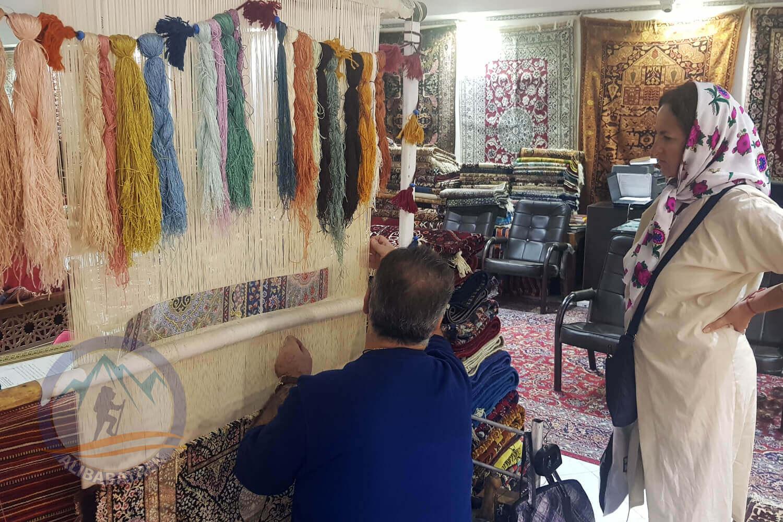 alibabatrek iran tour Classic Persia Tour & Iran Cultural Tour isfahan carpet loom