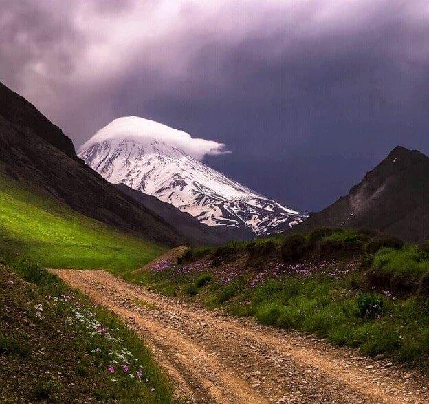 Damavand cloud cap alibabatrek Damavand tour iran blog -Iran-Tour trekking Iran