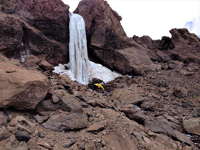 alibabatrek Damavand frozen waterfall Damavand trekking iran blog -Iran-Tour Iran trekking