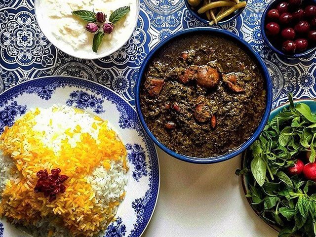 alibabatrek Most Popular Iranian Foods- Ghormeh sabzi - Iran blog-Iran tour