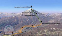 Alibabatrek mount damavand tour climb damavand trek damavand trekking north route