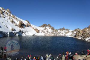 Sabalan summit in the summer, fantastic lake on the top!