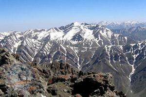 Central Alborz range from the summit of Koloonbastak (4200m)!