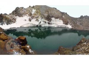 Sabalan summit, fantastic lake on the top!