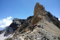 Marjikosh peak on left, in the middle of Alamkooh normal trekking trail!