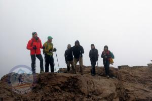 Acclimatization trek above the shelter at 4600m